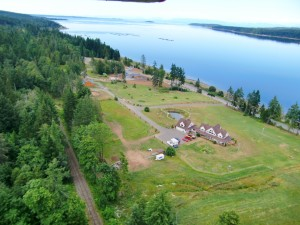 Two Eagles Lodge B&B from the air