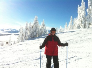 Carolyn on the slopes